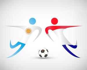 Fußball - Holland gegen Argentinien