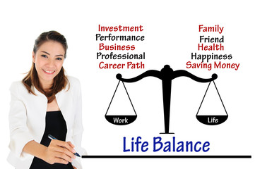 Work life balance of business concept
