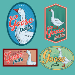 Goose pate labels