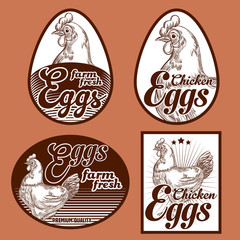 Eggs vintage labels