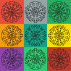 Vector spirographs set