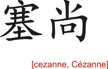 Chinese Sign for cezanne, C�zanne