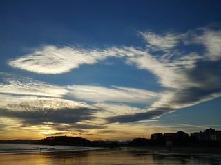 Viento sur Santander playa
