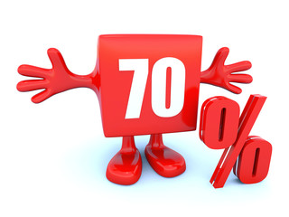 70 Percent off discount