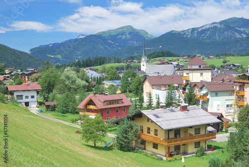Leinwandbild Motiv Urlaubsort Abtenau im Salzburger Land