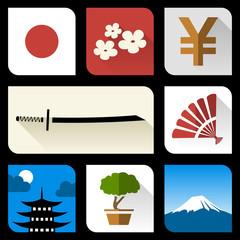 Japanese flat icons