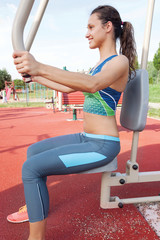 sport woman exercise outdoors
