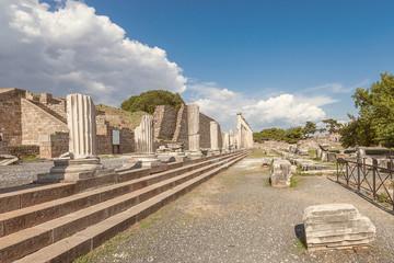 the alley of colums, Pergamos, Turkey