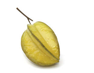 Carambola fruit isolated on the white background