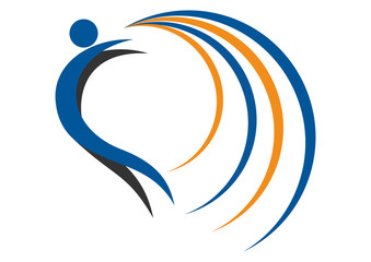 Sport fitness logo. Creative success symbol. Business activity