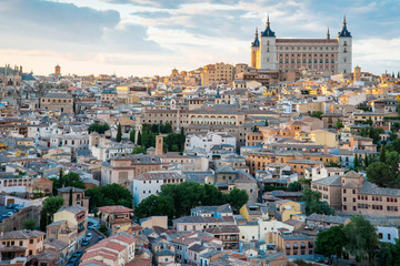 Toledo cityscape. Toledo is capital of province of Toledo (70 km