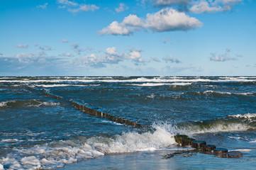 Winter an der Küste, Windstärke, Buhnen