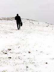 Hombre de negocios sobre la Nieve