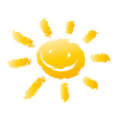 Lachende Sonne - Kreidestrich