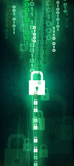 Data Lock green upright
