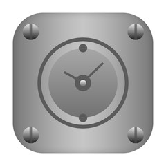 Metal clock icon