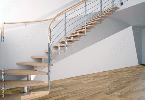 Leinwanddruck Bild деревянная лестница