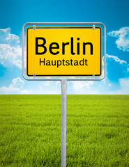 city sign of Berlin