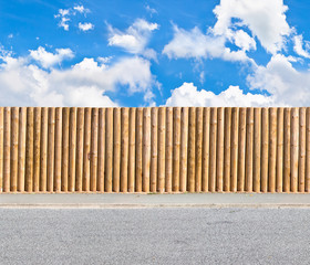 half round post and rail fence horizontal seamless