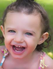 Retrato niña sonriente