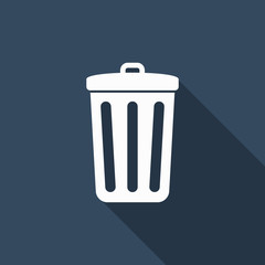 Bin icon with long shadow