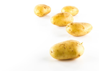 potatos isolated on white