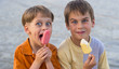 boys with ice cream