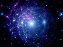 Systemów gwiezdnych niebieski różowy