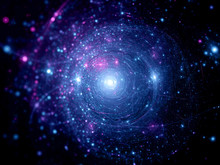 "Постер, картина, фотообои ""Blue pink star systems"""