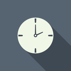 clock icon with long shadow