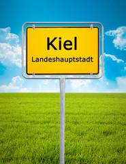 city sign of Kiel