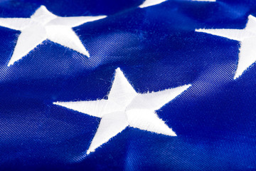 part of the U.S. flag with the stars macro