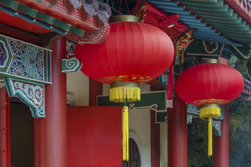 Red Lantern in Chinese temple