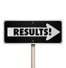 Results One Way Road Sign Outcome Answer End Result Proof Effort