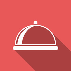 food cover icon with long shadow