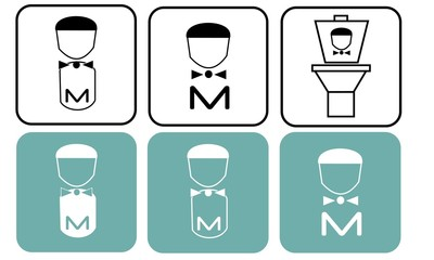 Mens restroom icons