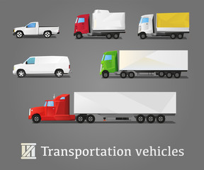 Vehicles Transportation SET