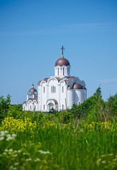 The Orthodox church in summer day.