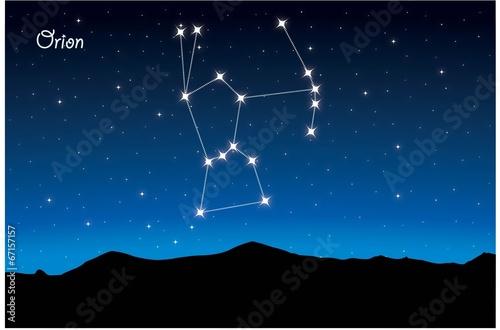 Постер, плакат: Constellation Orion, холст на подрамнике
