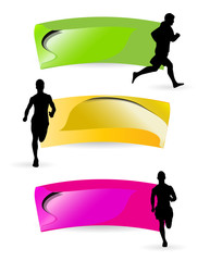 Sport illustartion. Runners