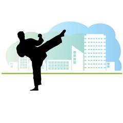 City sport. Karate