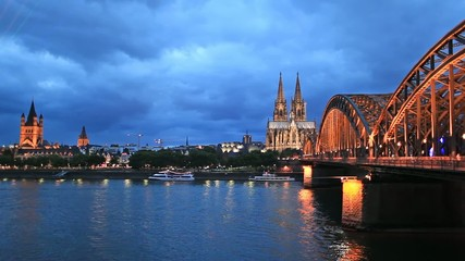St. Martin Church, Cologne Cathedral and Hohenzollern Bridge