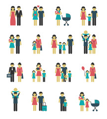 Family icons set