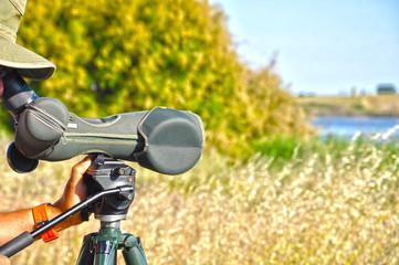 Tablas de Daimiel, observador de fauna, catalejo