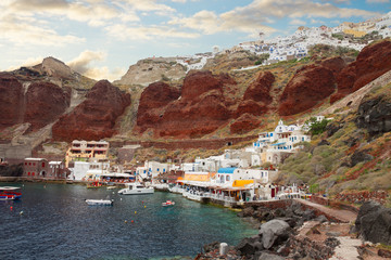Amoudi bay, Santorini, Greece