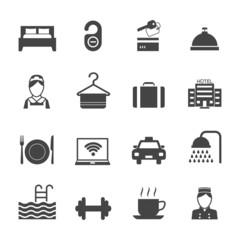 Hotel Icons Black