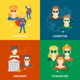 Fototapety Superhero icon flat composition