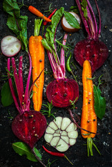 Carrot and beetroot