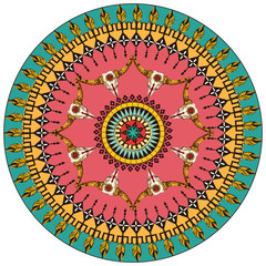 Tribal round ornamental background