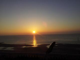 Sunset on north sea coast